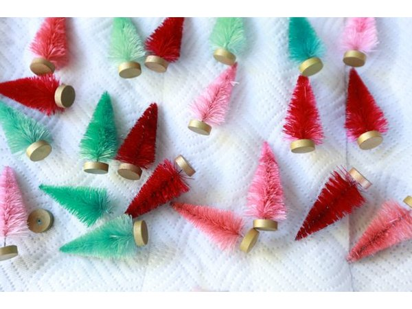 You can use any color you like to customize a bottle brush tree.