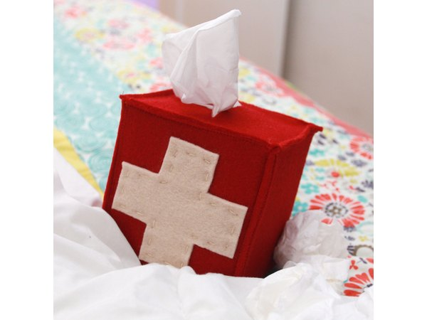 Keep your homemade tissue box cover at the ready.