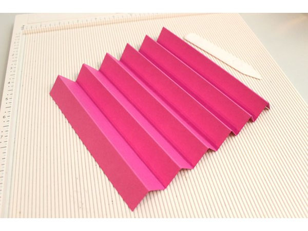 Accordion-fold the cardstock.