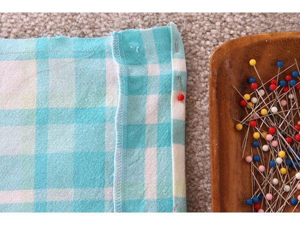 Press, pin and sew the sides.