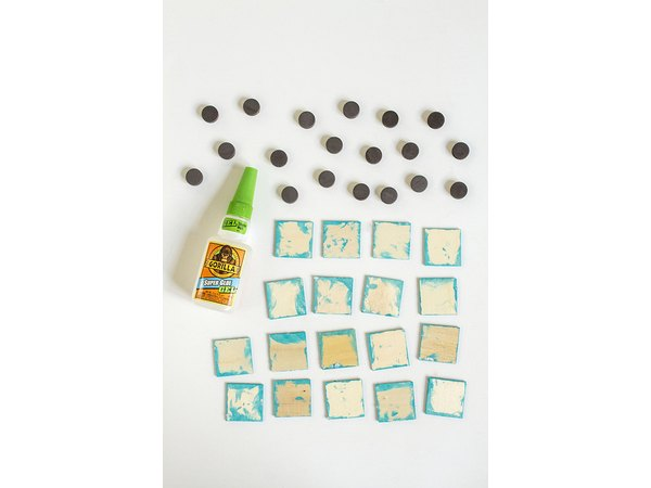 Use super-hold glue to add magnets.