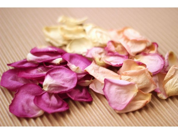 Dry rose petals add delicate beauty to your potpourri