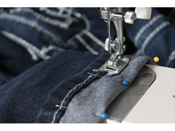 Sew the new hem.