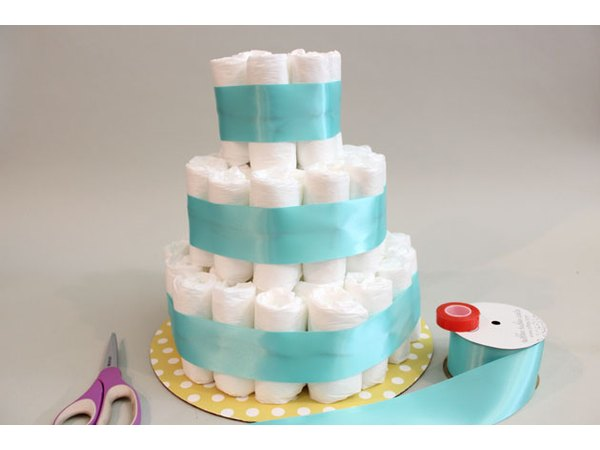 The ribbon is like fondant frosting on each tier.