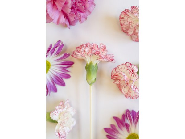 Attaching a flower with a thick stem is the easiest.