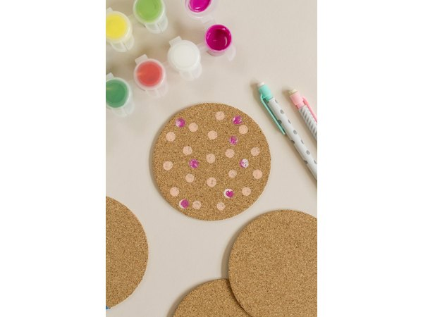 Use an eraser to create polka dots.