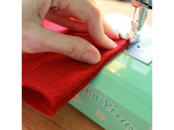 Fold each seam inside out and stitch it down.