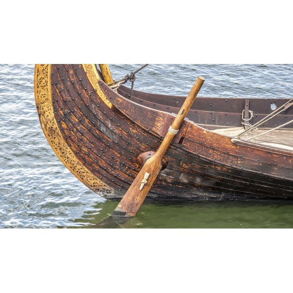 Viking ship rudder