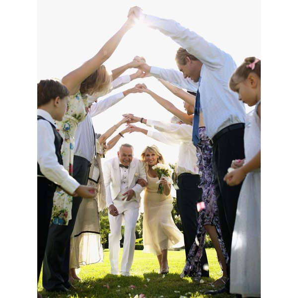 Couples usually choose a smaller ceremony with close family and friends for a second wedding.