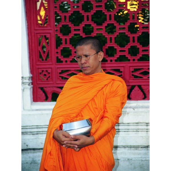 Photo, Buddhist monk, Color, Low res