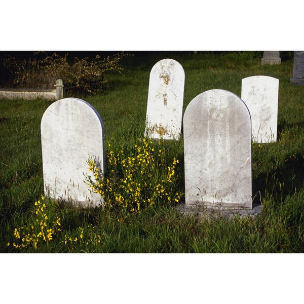 Grave Markers in Cemetery