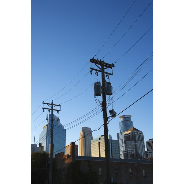 Power lines, Minneapolis, Minnesota