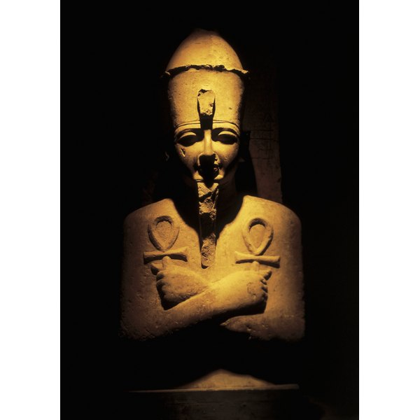 ancient Egyptian stone statue (toned)