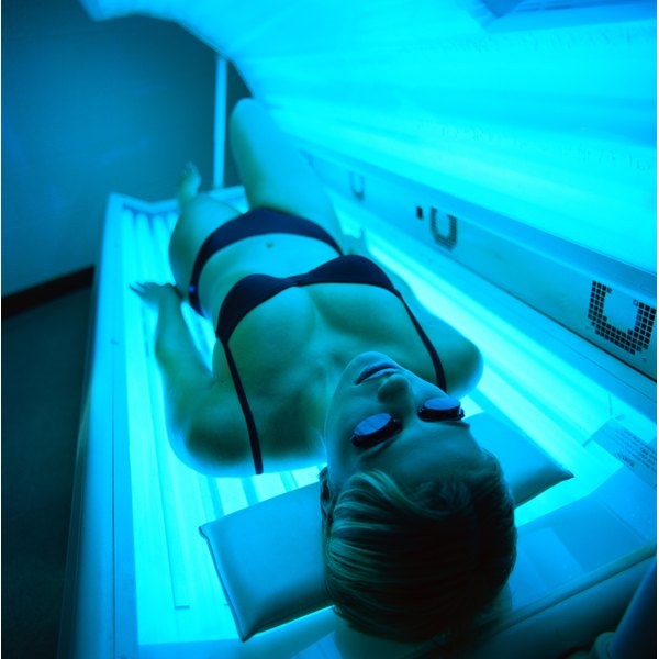 A spray-on tan has none of the dangers of a tanning bed.