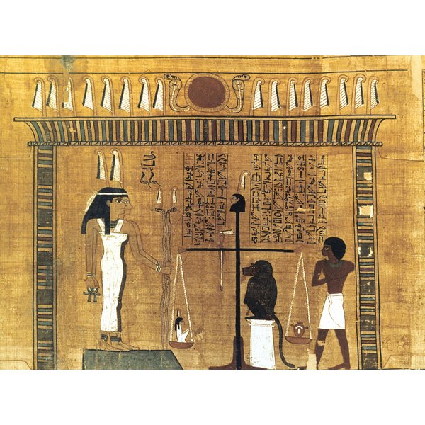 Ancient Egyptian practice of weighing the heart of the deceased