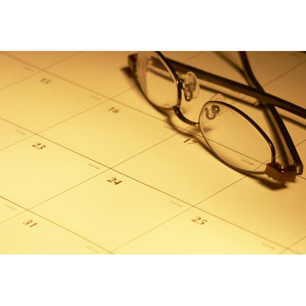 Calendar with spectacles
