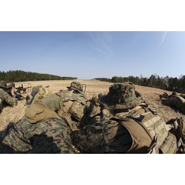 U.S. Marines participate in a known distance sniper training course.