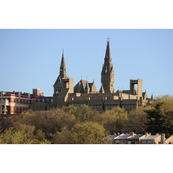 Panoramic view of Georgetown University Washington DC, USA