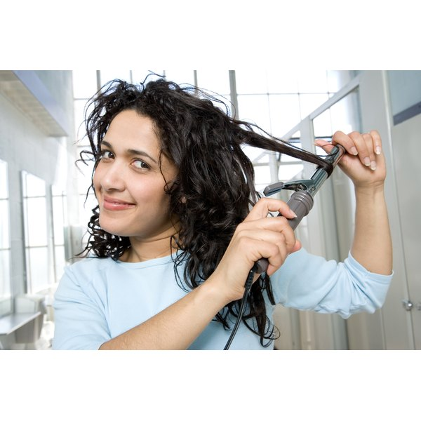 Curling irons with clamps can leave lines in the hair.