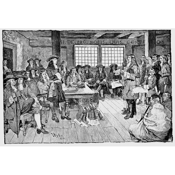 William Penn and colonialists at conference