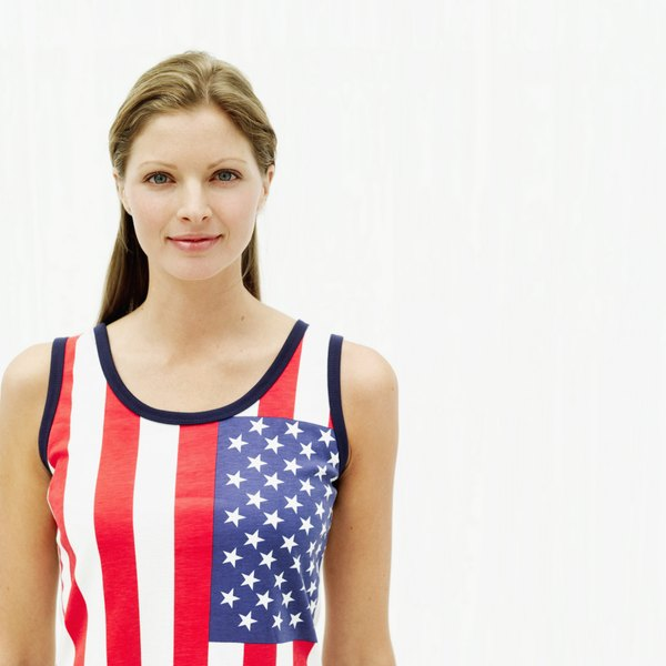 Flag clothing embodies USA support.