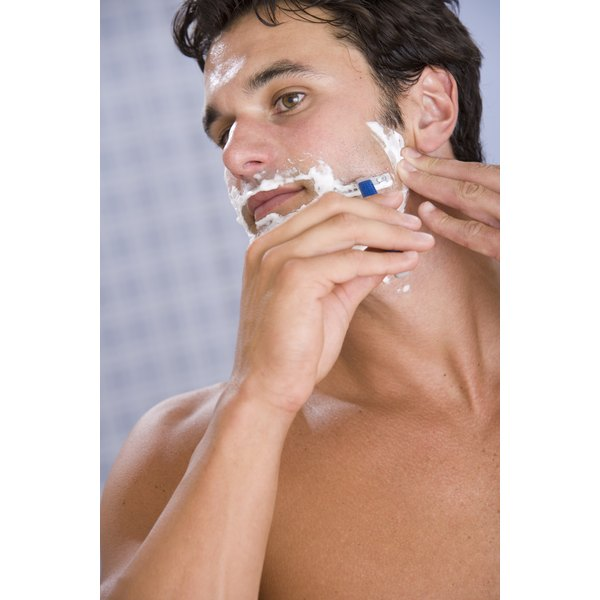 If you're pressed for time, a razor can quickly get rid of your sideburn hairs.