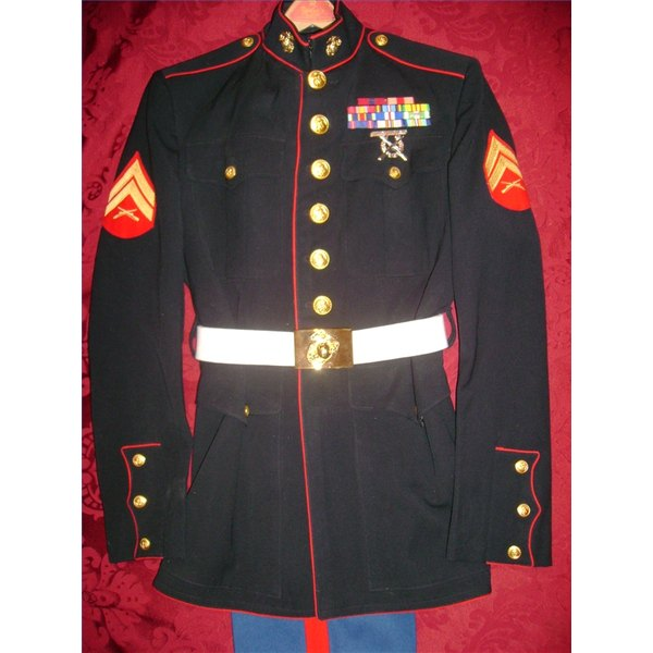 How To Attach The Belt On A Blue Marine Dress Uniform