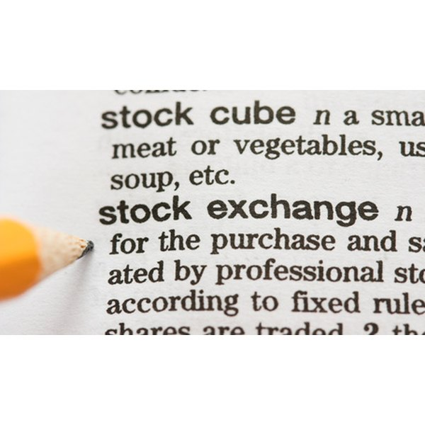 Stock market basics.