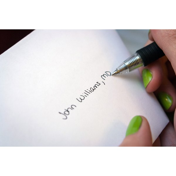 how to write a letter to a doctor