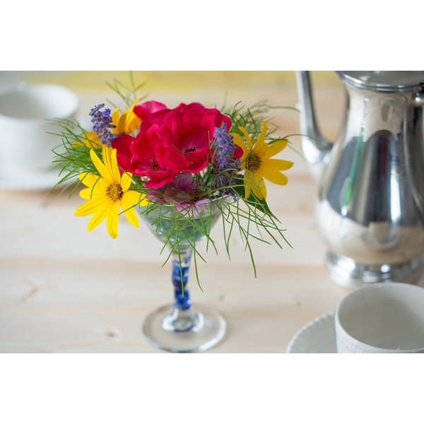 How To Make A Flower Arrangement how to make a flower arrangement in a martini glass vase | our