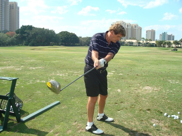 Poor alignment often contributes to a sliced shot.