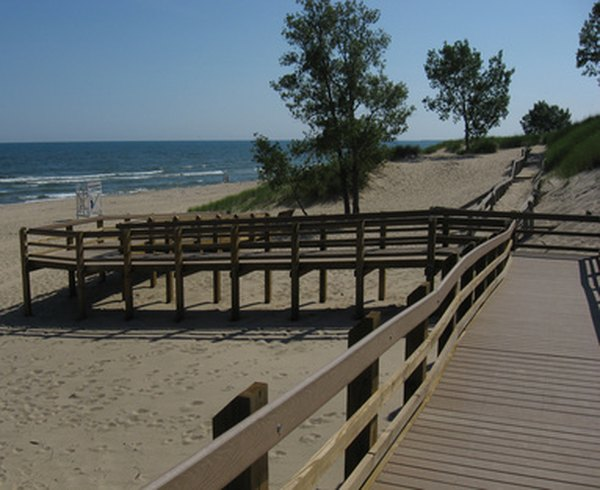 Indiana Dunes National Lakeshore features four beaches on which visitors are permitted to take their dogs.