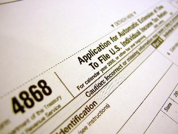 Apply for an automatic tax extension on IRS Form 4868.