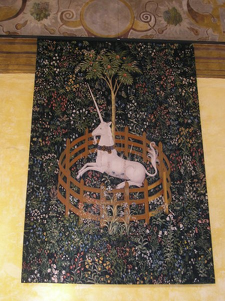 Wall Tapastries With Mythologial Creatures Are Featured In Wiccan Decor