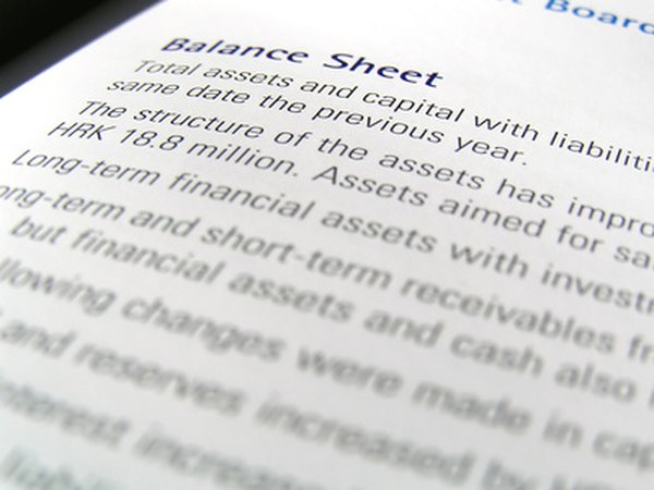 The balance sheet is a company's net worth statement.