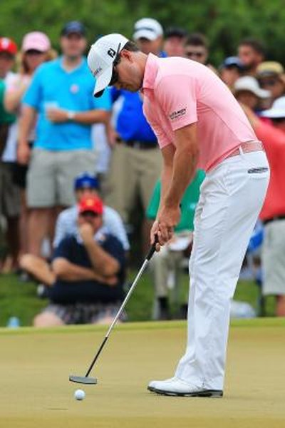 Zach Johnson uses a center-shafted putter at the 2012 Players Championship.