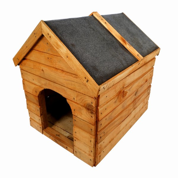 Place your doghouse in the sun during winter and in a shady area in the summer for temperature control.