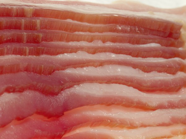 Raw bacon or other pork meat can cause trichinosis.