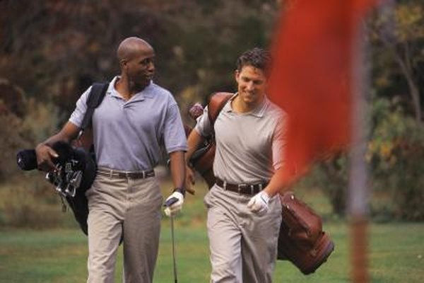 You might consider carrying your bags the next time you play, and give yourself a healthier workout.