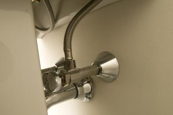 How to Fix a Broken Shutoff Fixture on a Bathroom Sink | Home Guides ...