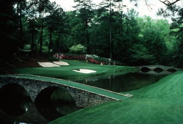 Golf heaven, amen corner at the historic Augusta National Golf Club.