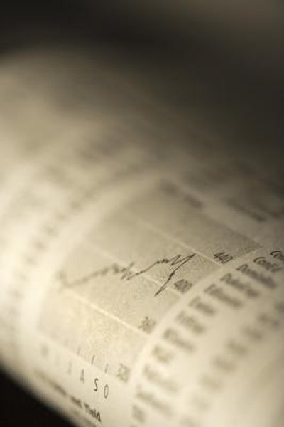 Benchmark results can be found in the financial pages of a newspaper or online.