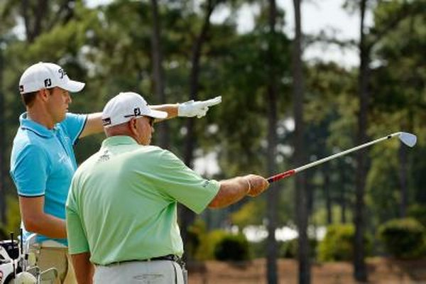 Swing coach Butch Harmon (right, with Nick Watney), was once a pro golfer, but is now a golf pro.