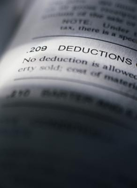 Death and taxes are certain, but not deductions.