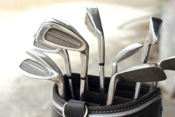 There are many different golf clubs for different types of swings and distances.