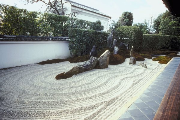 How to landscape with gravel sand and rock home guides for Sand garden designs