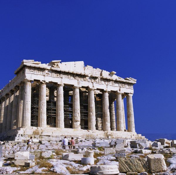 materials used in ancient greek architecture the