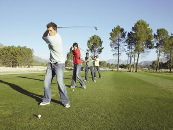 Practice is the key to success in golf.