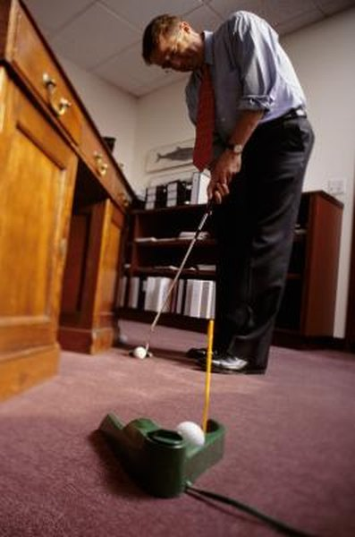 A ball return is a training aid that helps your putting and allows you to practice indoors.