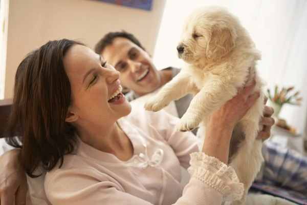 Keep Mom and puppy happy with a consistent schedule.
